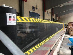 מערכת חשמלית מכאנית למניעת נפילת מלגזות ממשטח הטענה ופריקה - מפעל בכרמיאל